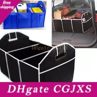 Wholesale toys organizers for sale - Group buy Car Trunk Organizer Car Toys Food Storage Container Bags Box Styling Auto Interior Accessories Supplies Gear Black And Blue Hh7