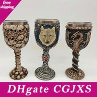 Wholesale man steel 3d for sale - Group buy 3d Skull Wolf Goblets Stainless Steel Beer Mugs Cup Halloween Cup Gifts For Men