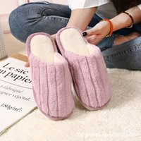 Wholesale rabbit flooring for sale - Group buy Rabbit plush autumn and winter cotton slippers men and women home home couple bedroom non slip thick sole winter warm floor shoes