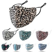 Wholesale face mask adult Leopard print fashion face masks dustproof smog proof breathable washable mask adjustable ear buckle mask in stock