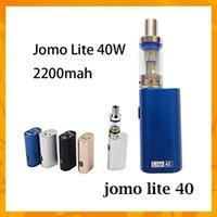 Wholesale e cig lite for sale - Group buy Authentic JOMO A027 Lite S New Jomo Watt e cig box mod Lite w Vapor Mod kit ml Tank Built in Battery