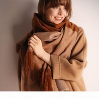Wholesale british plaid scarf for sale - Group buy Soft cashmere wool scarf female autumn and winter long tassel thickening warm British plaid cashmere shawl