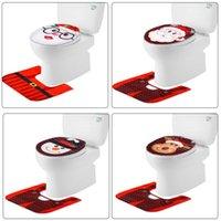 Wholesale christmas toilet covers resale online - Christmas Toilet Cover Christmas Bathroom Toilet Seat Covers Snowman Santa Claus Toilet Lid Cover Bathroom Ornaments Supplies OWD845