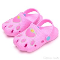 new children shoes 2021 - 2019 New Summer Fashion Children Cave Shoes Boys Girls Outdoor Slippers Kids Beach Flip Flops Breathable Light Toddler Slipper