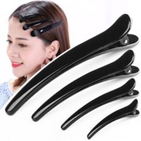 Wholesale barber clips resale online - 3Mwhu hot sale black duckbill Hot black gifts duckbill clip gift barber shop commonly used four sizes hairdressing clip gift