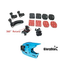 Wholesale gopro curve mount resale online - Accessories for GoPro Helmet Universal Rotary Extension Arm Mount Curved Adhesive Stickers Base Mount For gopro hero