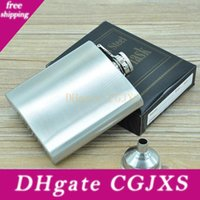 Wholesale plastic welding for sale - Group buy 100 Stainless Steel ounce Stainless Steel Hip Flask With Each Retail Black Box No Plastic Cover Laser Welding