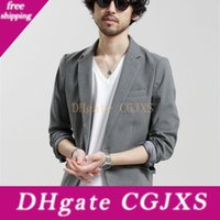 Wholesale beach wear for weddings for sale - Group buy New Grey Summer Beach Men Blazer Handsome Casual Young Boys One Button Groom Wear For Wedding Beach Leisure Men Suit Only One Jacket