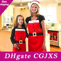 Wholesale tool aprons for sale - Group buy Christmas Apron Christmas Kitchen Cook Apron Free Size Restaurant Supermacket Christmas Uniform Xmas Decorations Supplies Tools