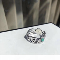 Wholesale mens gold and silver wedding bands for sale - Group buy Popular fashion brand sterling silver Skull designer rings for mens and women Party Wedding luxury jewelry With for Bride with box