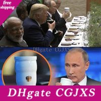 Wholesale ceramic travel mugs resale online - Putin G20 Summit Thermal Insulation Cup Putin S Same Ceramic Thermal Mug Home Office Tea Cup Travel Outdoor Portable Water Bottle Bh202