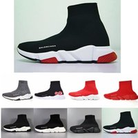 Wholesale ace boots for sale - Group buy 2019 ACE casual sock Shoes Brand Speed Trainer Black Red Triple Black Fashion Socks Boots Sneaker Trainer shoes MK5166