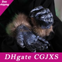 Wholesale fur claws for sale - Group buy Halloween Winter Gloves Women Fur For Ladies Hallowmas Werewolf Ghost Festival Hairy Beast Simulation Wolf Claw Jxw332
