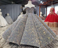 Wholesale bling pageant dresses for girls for sale - Group buy Luxury Silver Bling Sequin Girls Pageant Dresses Fluffy Off the Shoulder Ruched Flower Girl Dresses Ball Gowns Party Dresses for Girls