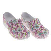 Wholesale flower services resale online - Womens Flower Pattern Slip Resistant Chef Clog Service Work Nursing Shoes