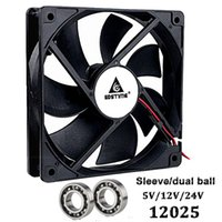 Wholesale 2pin fan for sale - Group buy Gdsime Fan mm V V V mmx120mmx25mm CPU PC Cooling Fan cm pin DC Brushelss Computer Case Cooler