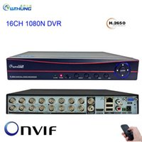 Wholesale cctv channels for sale - Group buy 16CH CCTV Video Recorder Channel DVR Red Panel Onvif P2P P Home Video Surveillance For CVBS AHD Camera Analog IP Camera