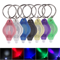 Mini LED Keychain Flashlight Torch Finger Lamp White Lights UV Light LED Bulbs for Dark Areas Camping Hunting Hiking