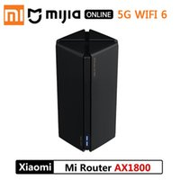 Wholesale router resale online - Xiaomiyoupin Mijia Router AX1800 Qualcomm Five core WiFi6 G GHz Full Gigabit G Dual frequency Home Wall penetrating King