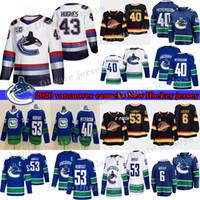 Wholesale henrik sedin jersey for sale - Group buy Vancouver Canucks Elias Pettersson Quinn Hughes Brock Boeser Bo Horvat Henrik Sedin Pavel Bure Hockey Jerseys