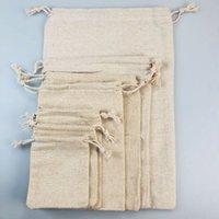 Wholesale flour bags for sale - Group buy and flour canvas millet cloth bag drawstring Canvas cotton linen cotton linen bag aLEIP