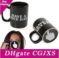 Wholesale novelty gift mugs for sale - Group buy Creative Have A Nice Day Coffee Mug ml Funny Middle Finger Mugs For Coffee Tea Milk Novelty Birthday Gifts