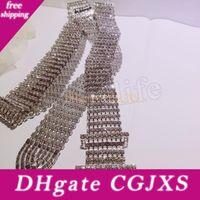 Wholesale rhinestone waist chain resale online - Women Shiny Belt Waist Chain Crystal Diamond Waistband Full Rhinestone Luxury Wide Party Belt Waistband For Dress Mma2662