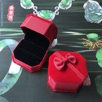 Wholesale filing boxes resale online - necklace ring Ring square file purplish red jewelry packaging box necklace ring bracelet Ring bracelet square file purplish red jewelry