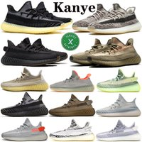 Wholesale 36 Asriel Linen Israfil Kanye West Running Shoes for Men Zyon Desert Sage Blue Tint Static Reflective Sports Sneakers Outdoor Shoes