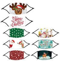 Wholesale superhero masks kids for sale - Group buy Kids Adult Cotton Christmas Deer Printed Xmas Face Masks Anti Dust Snowflake Christmas Mouth Cover Washable Reusable With Filters FY4245