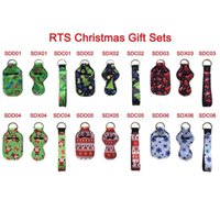 Wholesale news covers for sale – best News set Christmas Gift Holder Set Neoprene Printing Chapstick Holder Sanitizer Holder Wristlet Keychains Keychain Pouch Cover DHE1826