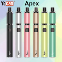 Wholesale waves electronics for sale - Group buy Authentic Yocan Apex Kit Heating in Waves Wax Vaporizer Electronic Cigarette Kit mAh VV Battery Portable Concentrate Vape Pen