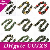 Wholesale battery operated garlands lights for sale - Group buy 2 m ft Lighted Christmas Garland For Indoor And Outdoor Christmas Decorations Battery Operated With Clear Lights Battery Not Include