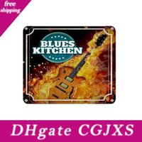 Wholesale painting guitars for sale - Group buy 6 Styles Music Guitar Home Decor Tin Sign Bar Pub Decorative Metal Sign Retro Metal Plate Painting Metal Plaque