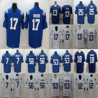 Wholesale football jerseys indianapolis for sale - Group buy Philip Rivers Quenton Nelson T Y Hilton Indianapolis Colts Darius Leonard Marlon Mack Football Limited Jersey