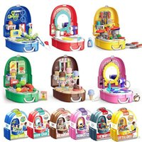 Wholesale kit doctor resale online - Children Simulation Makeup Jewelry Set Doctor Tools Supermarket Suitcase Kitchen Tableware Play House Kits Kids Toys Girls Boys Game