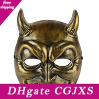 Wholesale horror demon mask for sale - Group buy Halloween Demon Masks Festive Party Supplies Home Plastic Mask Halloween Party Horror Masks Party Demonstrate Styles Lxl557