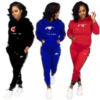 Wholesale long sleeve motorcycle shirts resale online - Women Designer Tracksuit fall winter Hoodies Pants Jogging suit Casual Outfits letter Shirt Legging Sweatsuit Tee Tops Sportswear