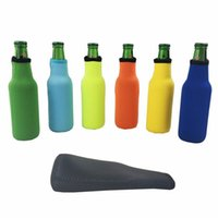 Wholesale neoprene sleeves resale online - Beer Bottle Sleeve Neoprene Insulation Bags Holder Soft Drinks Covers With Stitched Fabric Edges Insulated Bags Cover Bareware Tool DWA789