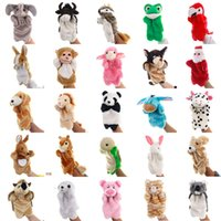 Wholesale prop hand puppet resale online - Kid toys Animal dolls Baby comfort toy Animal hand puppets Story puppet props hot selling gift of the child