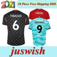 Wholesale salah soccer jersey for sale - Group buy 2020 THIAGO SALAH FIRMINO DIOGO JOTA J soccer jersey football shirt Goalkeeper VIRGIL Men Kids kit uniform