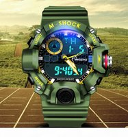 Wholesale water resistant electronics resale online - European and American men and women new outdoor sports watch multi function waterproof luminous watch casual electronic watch