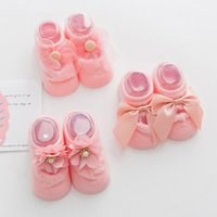 Wholesale birthday clothes for baby boy for sale - Group buy 3 Pair Cotton Lace Infant Newborns Girls Socks Princess Birthday Gifts for Baby Clothing Toddler Anti Slip Deals