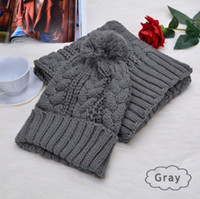 Hot fashion New brand men and women winter high quality warm scarf hat suit full knit hat warm