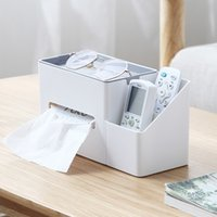 Wholesale makeup desks for sale - Group buy Tissue Box Remote Control Holder Makeup Cosmetic Storage Box Napkin Paper Container Desk Organizer Decoration Tools