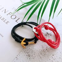 Wholesale rope chain 3mm for sale - Group buy thDQs American Tide br life rope mm handmade men s and girlsNavy style bracelet titanium steel anchor bracelet couple s hand rope