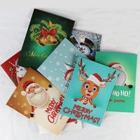Wholesale christmas greetings postcards resale online - Drills Diamond Painting Greeting Cards D Special Cartoon Christmas Birthday Postcards DIY Kids Festival Embroidery Greet Cards Gift VT1709