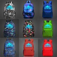 Wholesale stylish backpacks for ladies resale online - Quality Vintage Canvas Fortnite Fortress Night Luminous Backpacks For Women Large Capacity Simple Stylish Student Bag Anti Theft Ladies