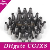 Wholesale glazed metal resale online - Cake Decoration Stainless Steel Good Quality Glaze Pipes Nozzles Pastry Tips Set Cake Baking Tools Accessories Dhl