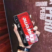 Wholesale cell phone glasses case for sale - Group buy Phone Case For iPhone pro pro Max X XS XR XSMAX S Plus Tempered Glass Mirror Cell Phone Case